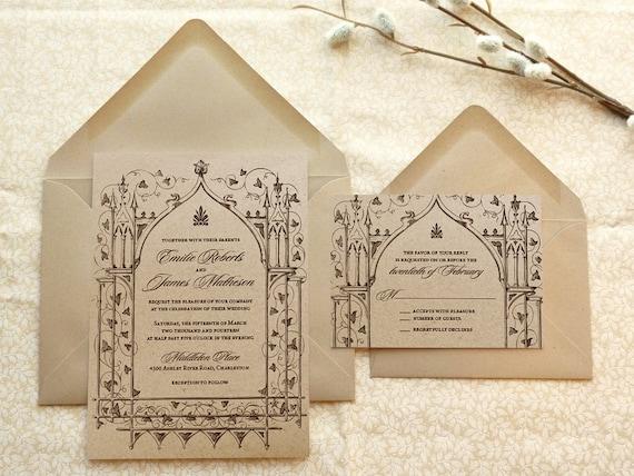 Once Upon a Time Kraft Garden Printable Wedding Invitations