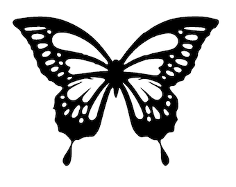 "11.7/16.5"" Butterfly stencil and template design 2. A3"