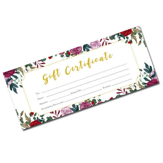 Flower gift certificate floral blank gift certificate gift flower gift certificate floral blank gift certificate gift certificate template printable blank gift certificate garden yadclub Image collections