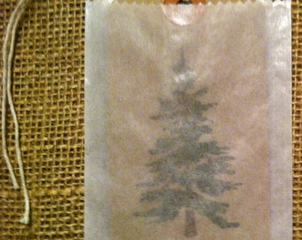Brown Kraft Strung Shipping Tags with Glassine Bag 20 each