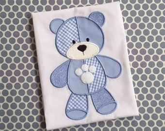 Baby Applique Machine Embroidery Design Patchwork Bear
