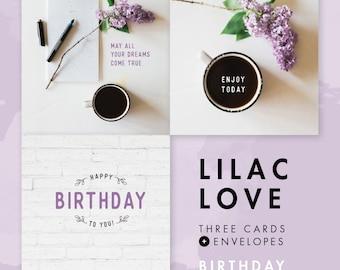 Lilac Love Cutesy Cards