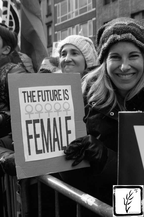 """""""The Future is Female,"""" New York City Women's March, 2017."""