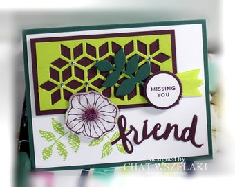Friendship Card- Stampin' Up Missing You Friend