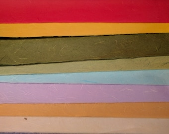 Colored Mulberry Paper / 3 sheets / Traditional Korean Hanji