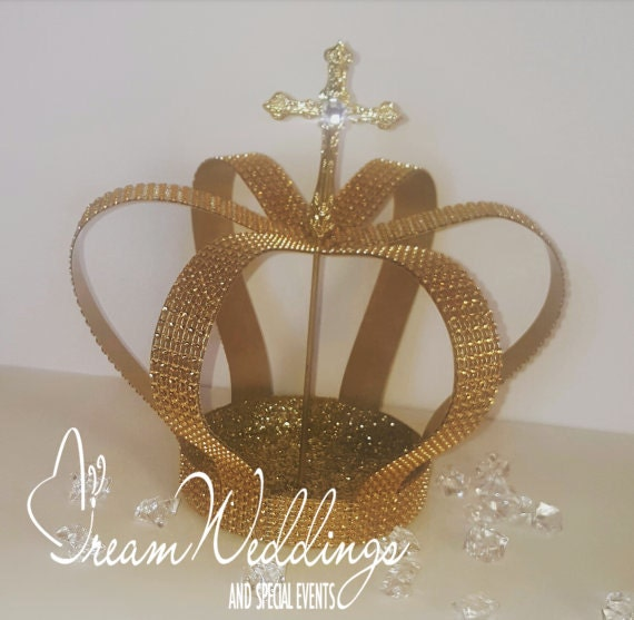 Gold Crown Cake Topper Party City