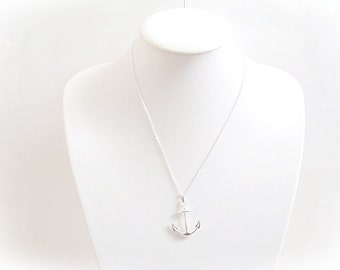 Anchor necklace etsy aloadofball Images