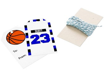 Scott Brothers' Jerseys Gift Tag (1) - One Tree Hill