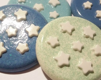 4 magnets in resin, star gingerbread cookies