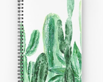 Cactus Notebook, cactus journal, succulent notebook, plant notebook, plant journal, green notebook, succulent journal