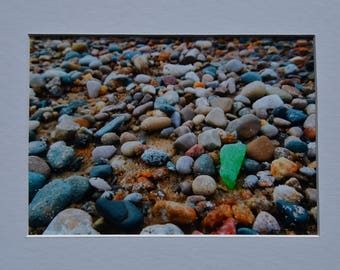 Green Beachglass Lake Michigan Photo