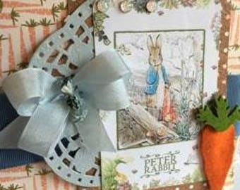 Peter Rabbit and Carrots ~~~ 2018 Designer Collection~~~~ Extraordinary Easter Greeting/ Decor