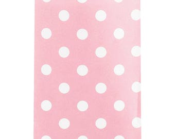 Pink Candy Bag, 20 Count Paper Treat Bags with Polka Dots, Small, Classic Pink