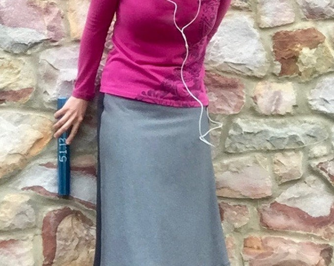 Featured listing image: Wicking Antimicrobial - Modest Running Skirt Modest Athletic Skirt  Side Stripe Skirt