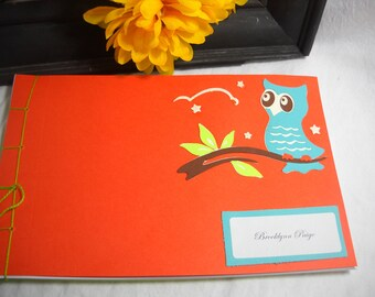 Custom (MTO) Night Owl Guest Book Album - Baby, Graduation, Retirement, Birthday