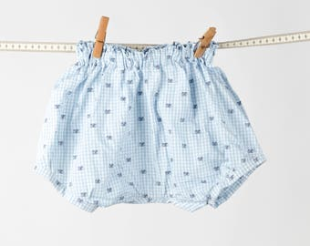 Blue gingham bloomers