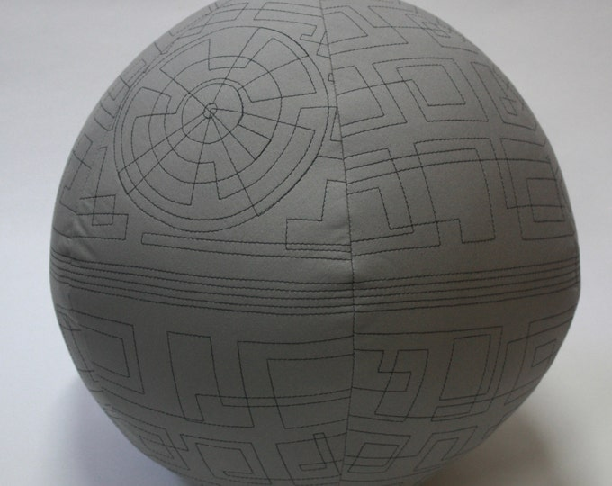 Death Star quilted pillow--Star Wars quilted pillow-MTO