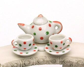 Fairy Tea Set, Teapot and Teacups, Fairy Teapot, Fairy Teacups, Fairy Food, Fairy Garden Accessory, The Fairy Garden