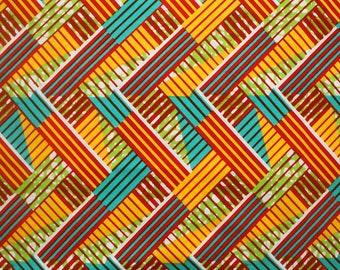 Ankara Fabric, Wax print fabric, Citrus Network Print, Ankara 6 yards, Colourful African Fabric, Modern African print fabric