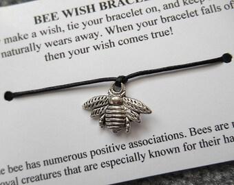 Bumblebee Wish Bracelet - Wish Bracelet - Bee Bracelet - Party Favor - Wishing Bracelet - Bumblebee Charm Bracelet - Thank You Gift