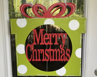 Merry Christmas door hanger, Christmas door hanger, Christmas door decor, Christmas decor