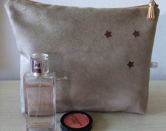 customizable suede pouch