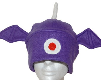 One-eyed, one-horned, flying purple people eating monster fleece hat