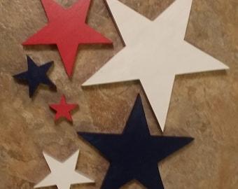 6  Painted Stars