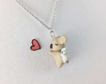 Kawaii Koala Necklace // Koala Bear Polymer Clay Necklace // Gift for Daughter and Gift for Girlfriend