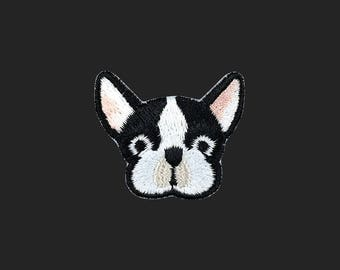 French Bulldog patch dog patch embroidered patch iron on patch bag patch hat patch gift