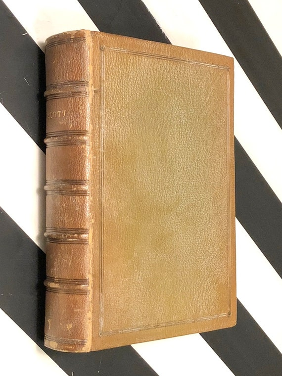 The Poetical Works of Walter Scott (1889) signed hardcover book
