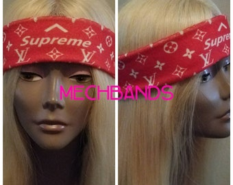 LV Supreme inspired headband