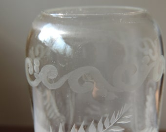 Vase/Beer * hand-sanded * with hunting approx. 1900 # rare Collector's Item #