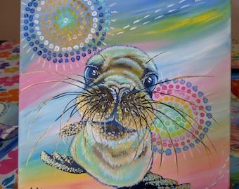 Baby seal, curiosity