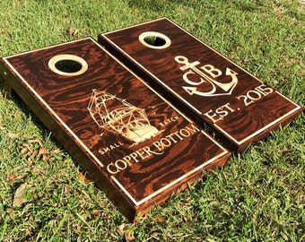 Cornhole Boards Wall Decor Decals Stencils And By