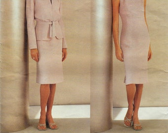 Vogue 2537 / Paris Original / Designer Sewing Pattern By Guy Laroche / Sheath Dress And Jacket / Size 8 10 12