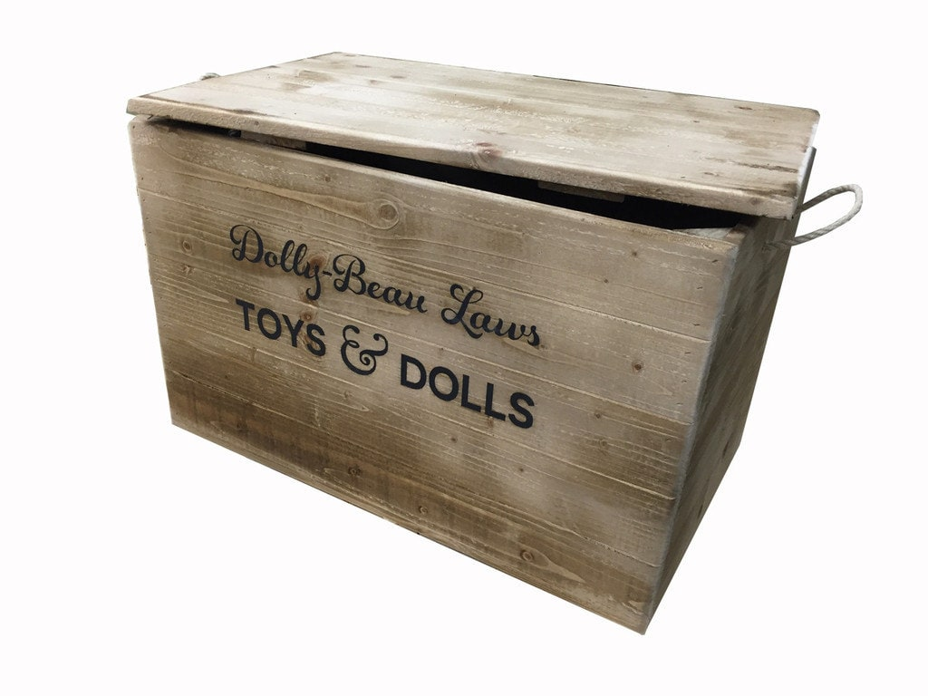 extra large personalised rustic wooden crate storage box with. Black Bedroom Furniture Sets. Home Design Ideas