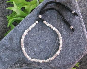 Silver Beaded Bracelet, Tribal Silver Bracelet, Boho Silver Bracelet, Beaded Bracelet, Bohemian Bracelet, Bohemian Jewelry