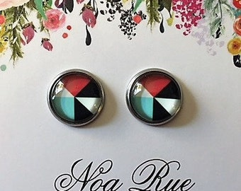 Metric Drop 10mm Stud Earrings