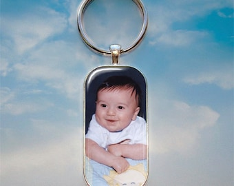 Key Chain with Custom Photo - Rounded Rectangle - Customized Key Chain - Personalized