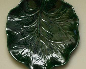 Leaf Plate, Set of 4, New Ceramic