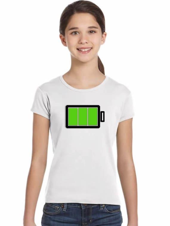 Girl t-shirt or body FULL BATTERY