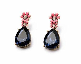 Petal tassel glam earrings