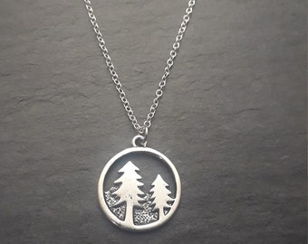Necklace - Woodland Pendant Necklace - Various Lengths Available - Gift