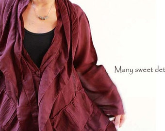 Sweet love...jacket tunic blouse...mix silk all colours/ all sizes 1407