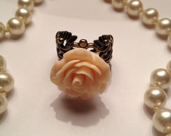 Blush Rose Filigree Ring