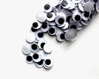 20mm Goggle Eyes, Large Wobbly Eyes, Glue on Moving Eyes, 20mm Joggle Eyes, Large Goggly Eyes, Kids' Crafting, Card-making Supply