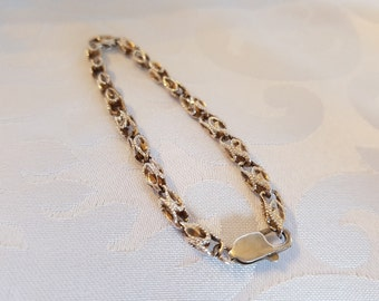 Beautiful Sterling Bracelet, Sterling Silver Chain Link Bracelet, Ornate Sterling Silver Chain Link Bracelet, Bracelet