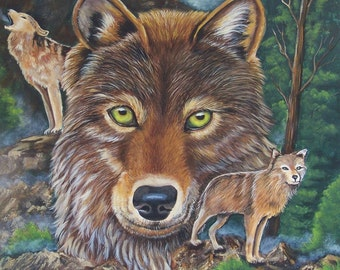 Wolf collection blank notecards with envelopes