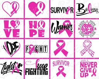 Breast Cancer Svg, Breast Cancer Awarenss Svg, Breast Cancer Awareness Ribbon Svg, Breast Cancer Ribbon Svg, Cancer Svg, Cancer Ribbon Svg